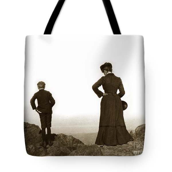 Tote Bag featuring the photograph Mount Tamalpais Marin County California Circa 1902 by California Views Mr Pat Hathaway Archives