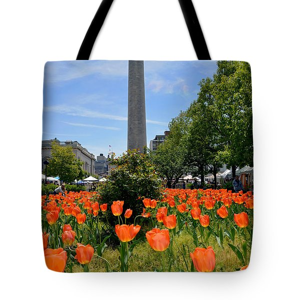 Mount Vernon Place Tote Bag by Brian Wallace