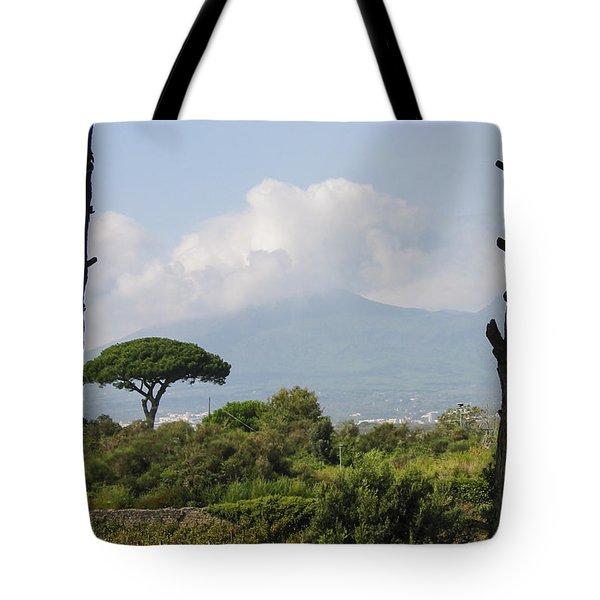 Mount Vesuvius Tote Bag by Adam Romanowicz