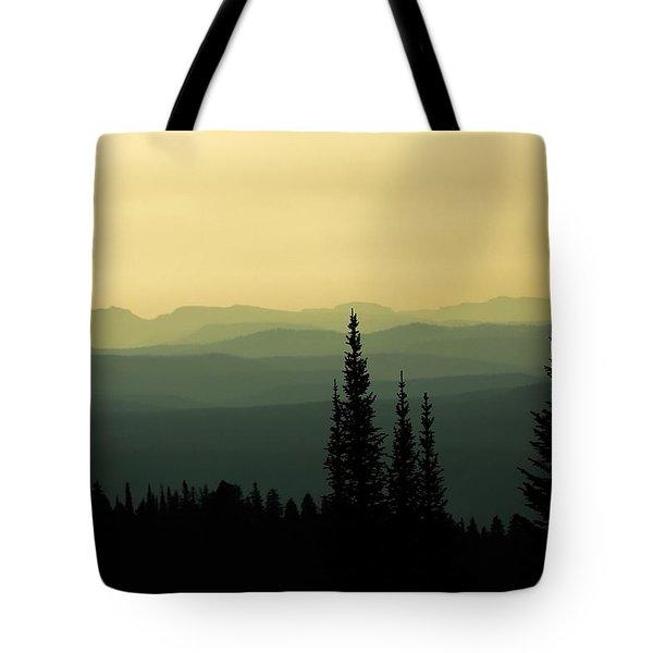 Mount Washburn Mist Tote Bag