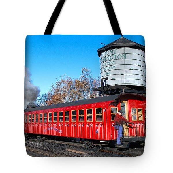 Mount Washington Cog Railway Car 6 Tote Bag