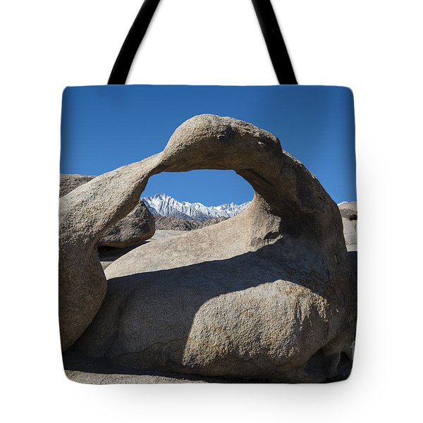 Mount Whitney Through Mobius Arch Tote Bag by Sandra Bronstein
