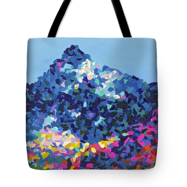 Mountain Abstract Jasper Alberta Tote Bag by Joyce Sherwin