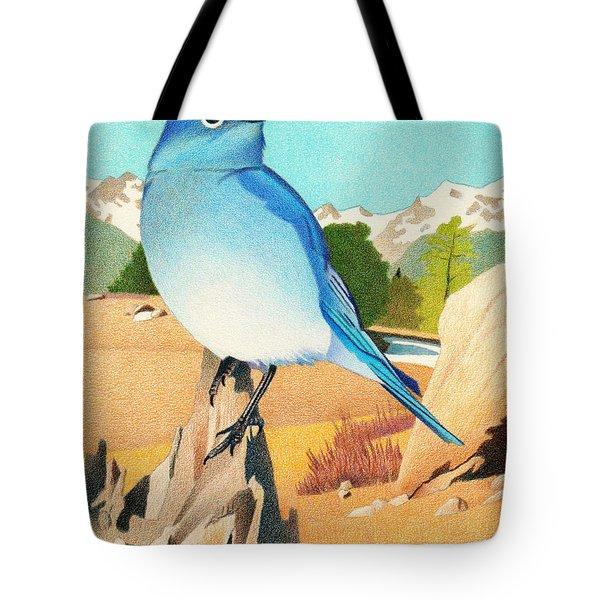 Mountain Bluebird Tote Bag