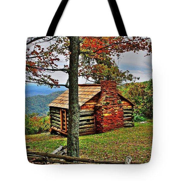 Mountain Cabin 1 Tote Bag by Dan Stone