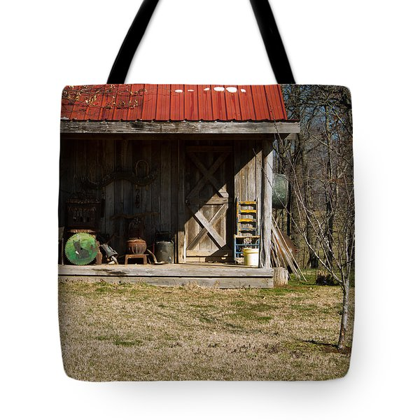Mountain Cabin In Tennessee 3 Tote Bag by Douglas Barnett