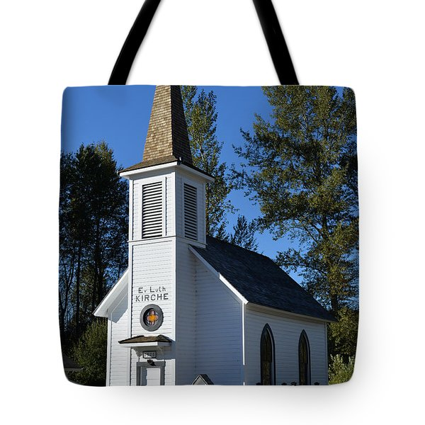 Mountain Chapel Tote Bag
