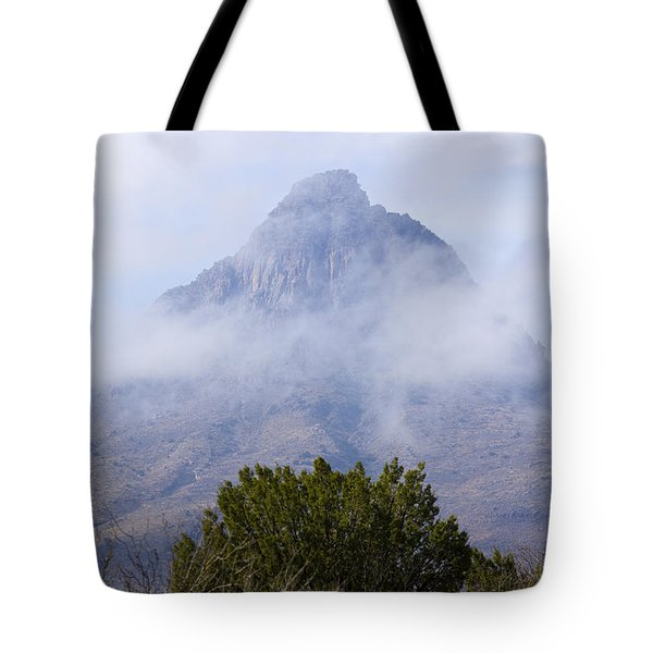 Mountain Cloaked Tote Bag