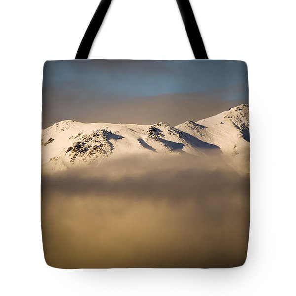 Mountain Cloud Tote Bag by Tim Hester