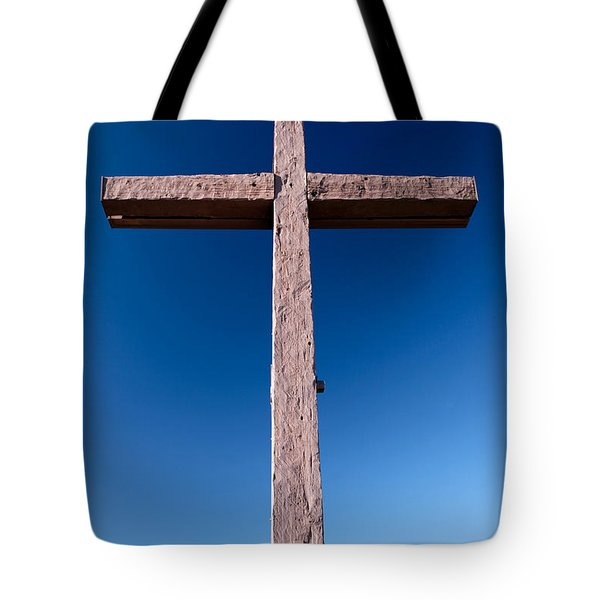 Mountain Cross Tote Bag by Karen Lee Ensley