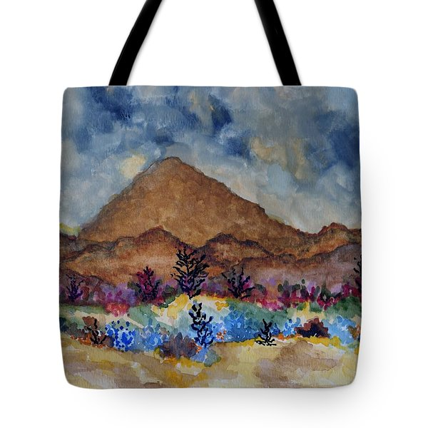 Mountain Desert Scene Tote Bag