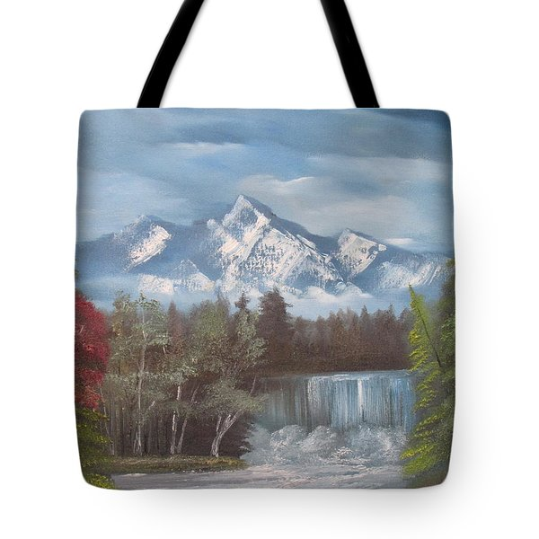 Mountain Dreams Tote Bag by Dawn Nickel