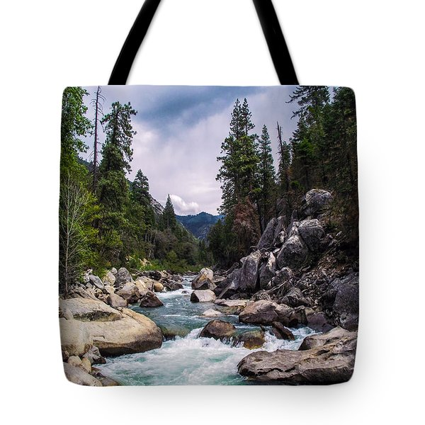 Mountain Emerald River Photography Print Tote Bag by Jerry Cowart
