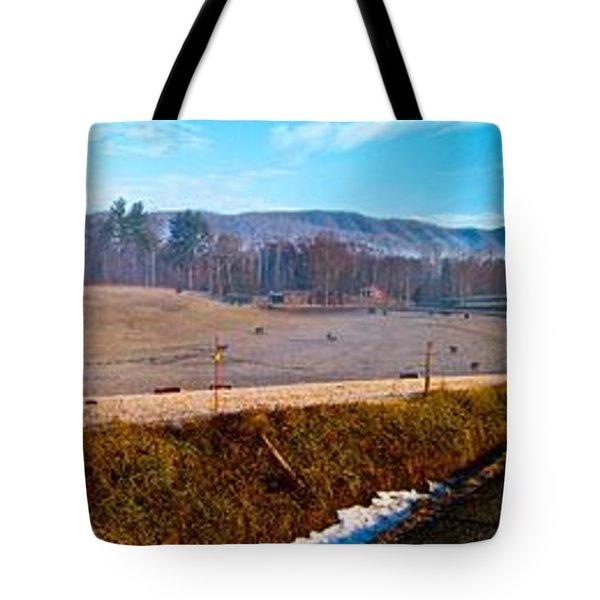 Mountain Farm Panorama Version 2 Tote Bag