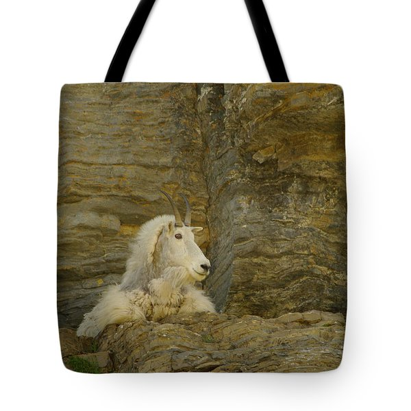 Mountain Goat Tote Bag by Jeff Swan