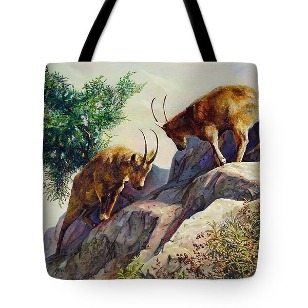 Mountain Goats - Powerful Fight  Tote Bag