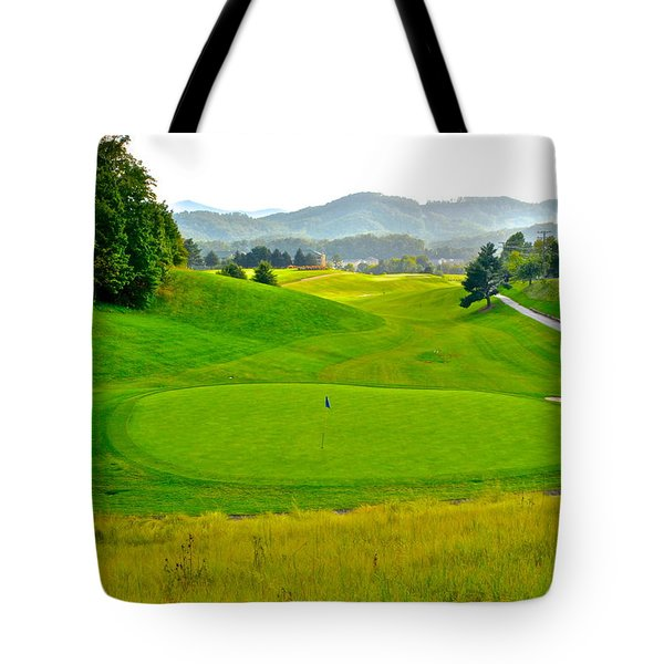 Mountain Golf Tote Bag by Frozen in Time Fine Art Photography