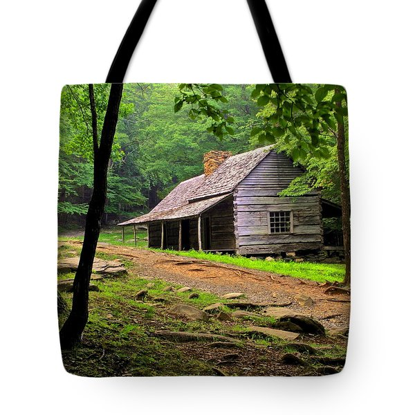 Mountain Hideaway Tote Bag by Frozen in Time Fine Art Photography