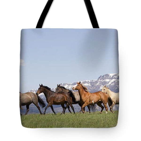 Mountain Horses Tote Bag