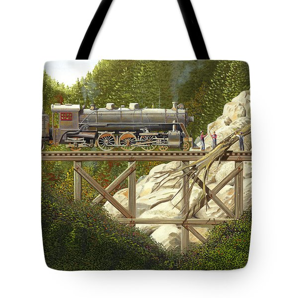 Tote Bag featuring the painting Mountain Impasse by Gary Giacomelli