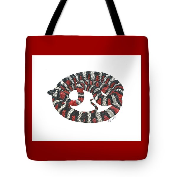 Mountain King Snake Tote Bag