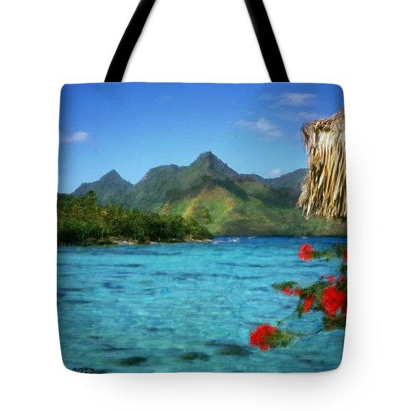 Tote Bag featuring the painting Mountain Lake by Bruce Nutting
