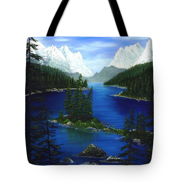 Mountain Lake Canada Tote Bag