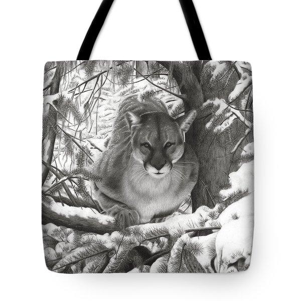 Mountain Lion Hideout Tote Bag