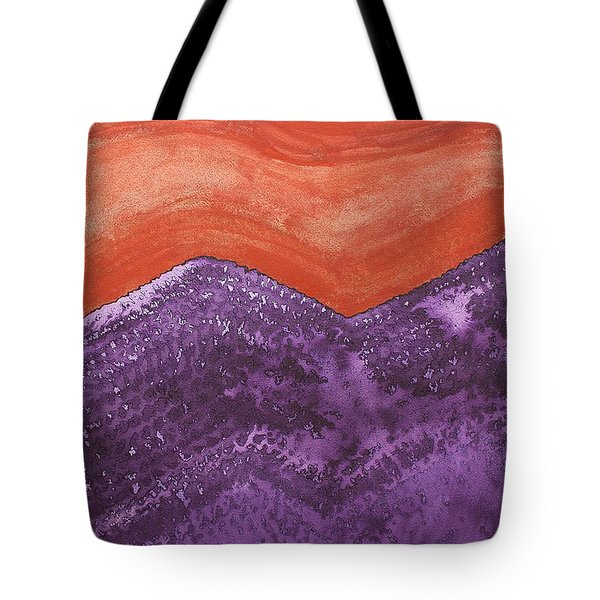 Mountain Majesty Original Painting Tote Bag by Sol Luckman