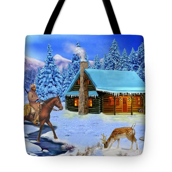 Mountain Man's Wilderness Tote Bag