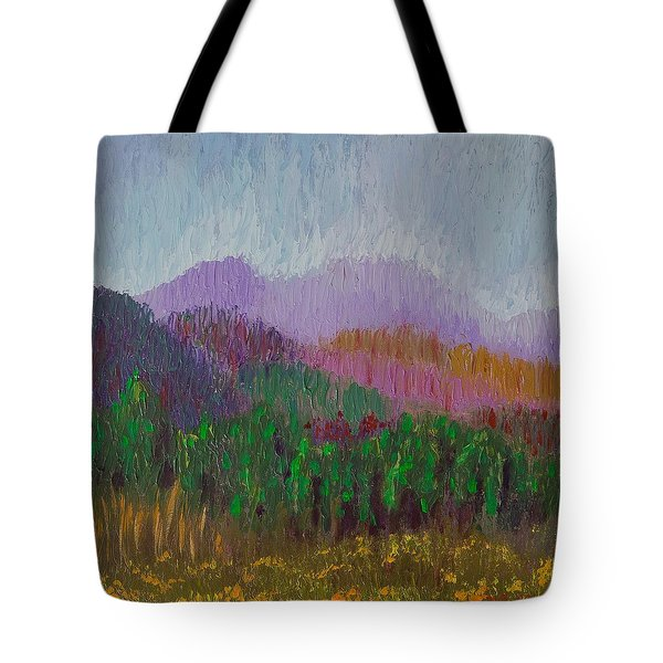 Mountain Meadow Tote Bag by Margaret Bobb