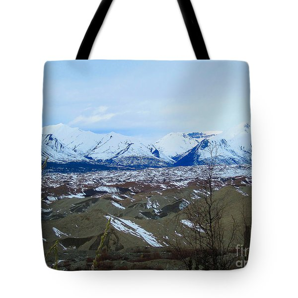 Mountain Meringue Tote Bag by Heather  Hiland