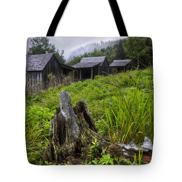 Mountain Mists At Le Conte Tote Bag by Debra and Dave Vanderlaan