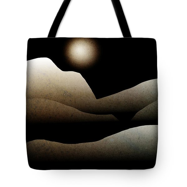 Mountain Moonlight Landscape Art Tote Bag by Christina Rollo