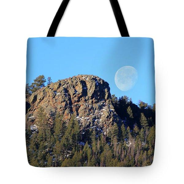 Mountain Moonset Tote Bag
