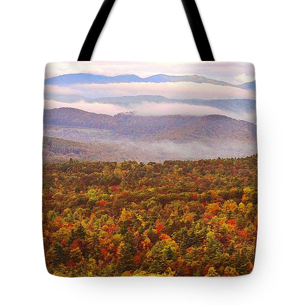Mountain Mornin' In Autumn Tote Bag