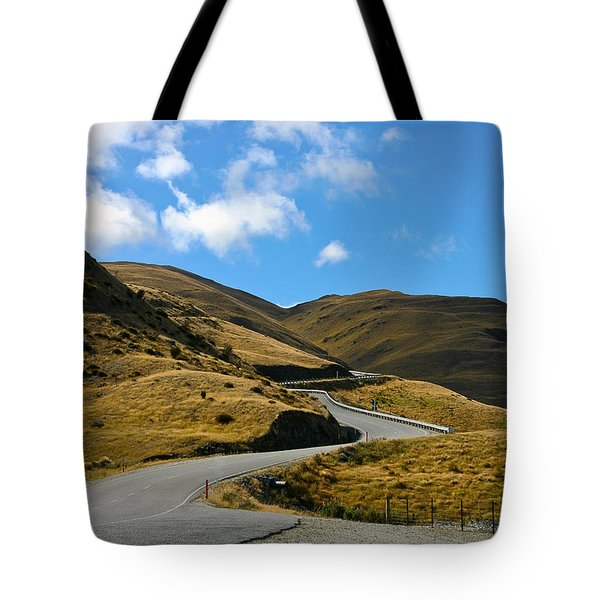 Mountain Pass Road Tote Bag
