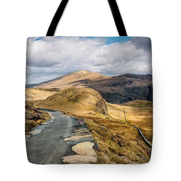 Mountain Path Tote Bag by Adrian Evans