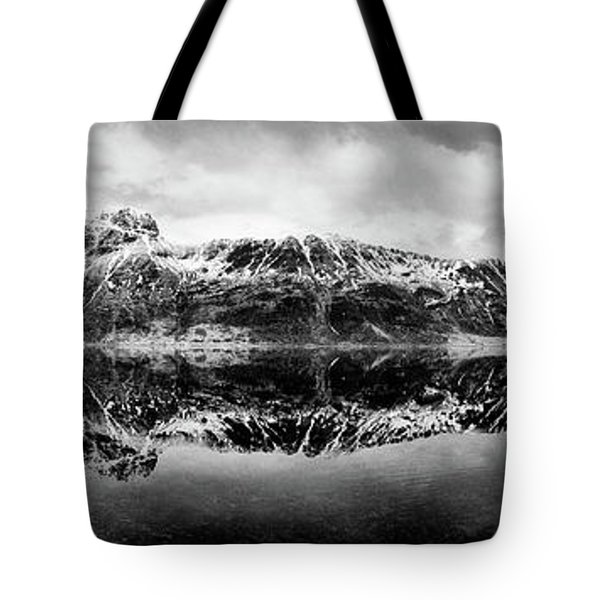 Mountain Reflection Tote Bag by Dave Bowman