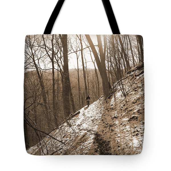 Mountain Side Tote Bag by Melinda Fawver