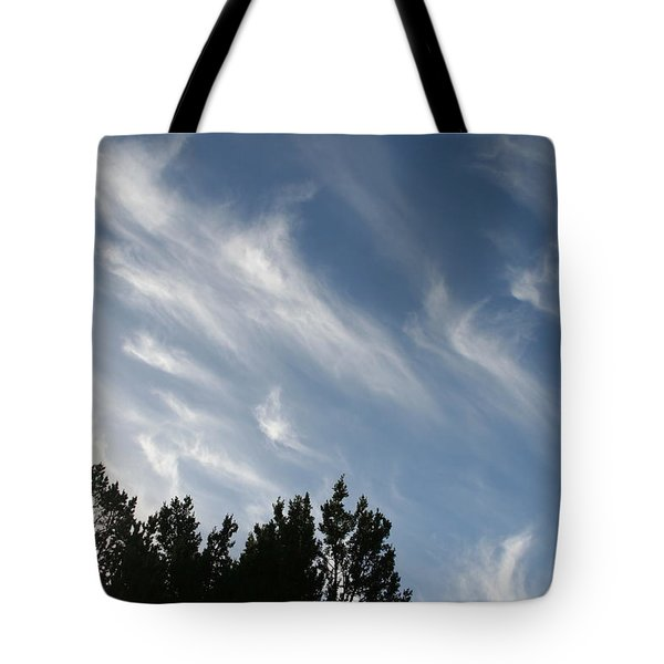 Mountain Sky Tote Bag by David S Reynolds