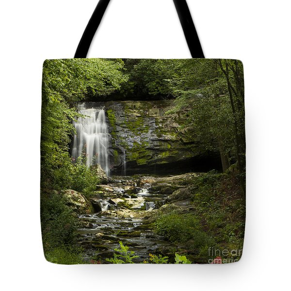 Mountain Stream Falls Tote Bag