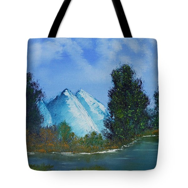 Mountain Stream Tote Bag by Jennifer Muller