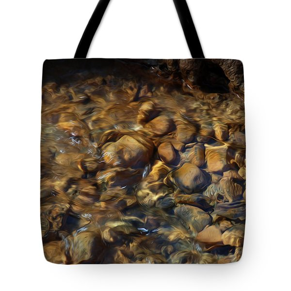 Tote Bag featuring the digital art Mountain Stream by Kelvin Booker