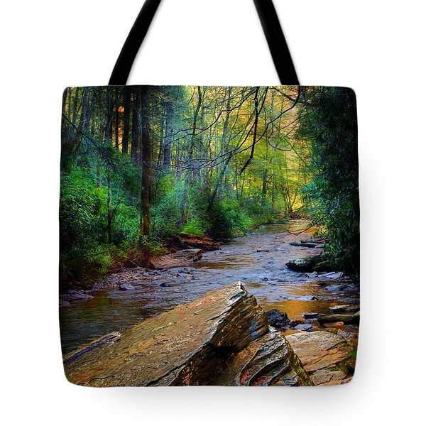 Mountain Stream N.c. Tote Bag