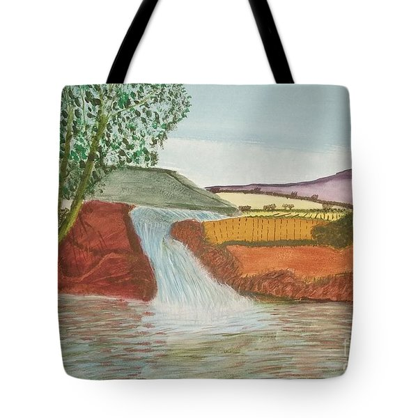 Mountain Stream Tote Bag by Tracey Williams