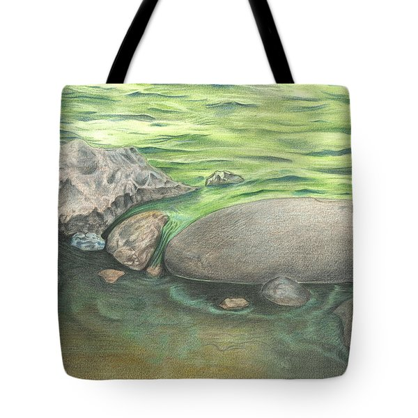 Mountain Stream Tote Bag by Troy Levesque