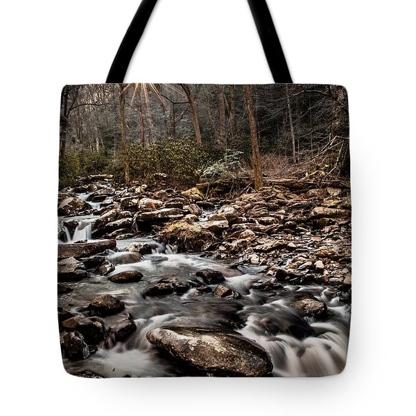 Tote Bag featuring the photograph Icy Mountain Stream by Debbie Green