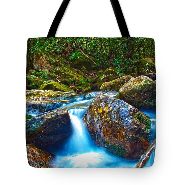 Tote Bag featuring the photograph Mountain Streams by Alex Grichenko