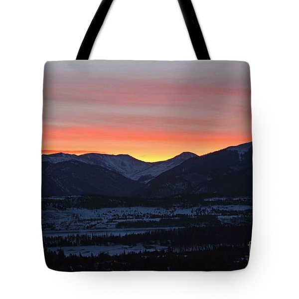 Mountain Sunrise Tote Bag by Fiona Kennard